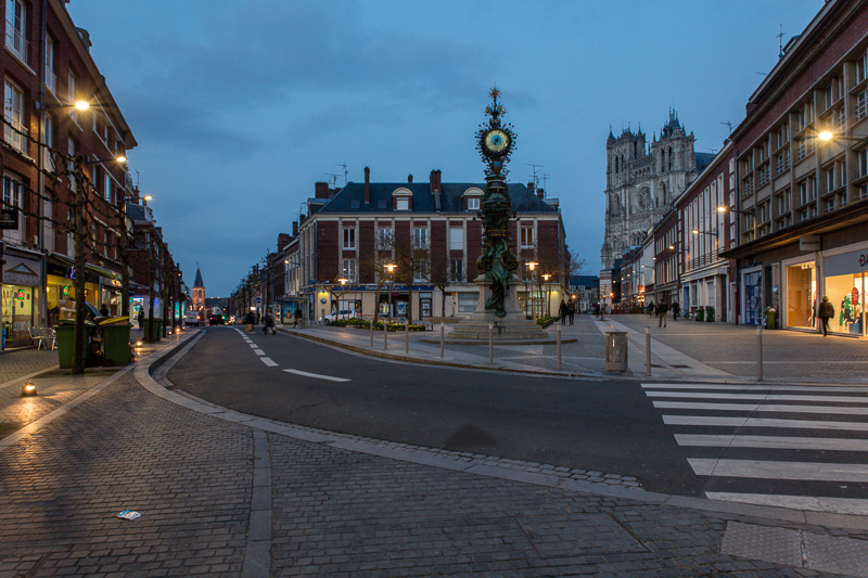Night time in Amiens
