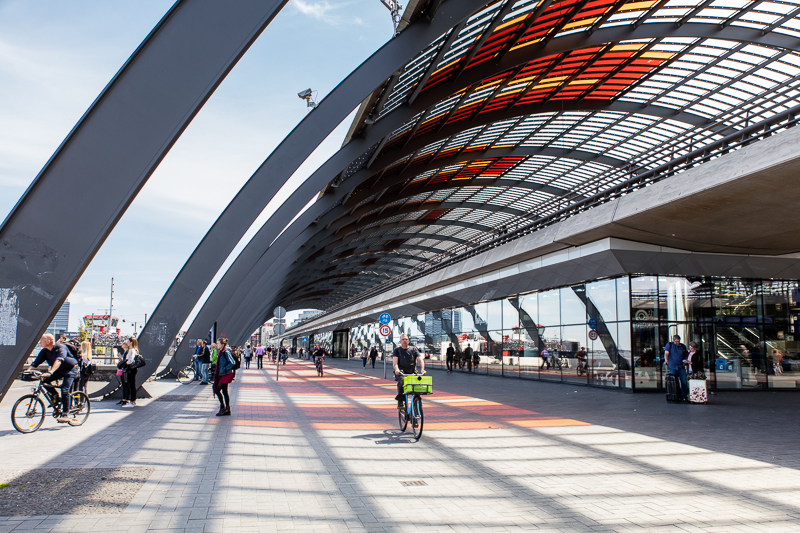 Amsterdam central station cycleway
