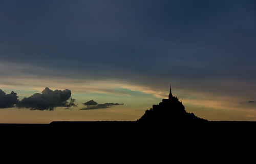 Silhouette of Mont St Michel