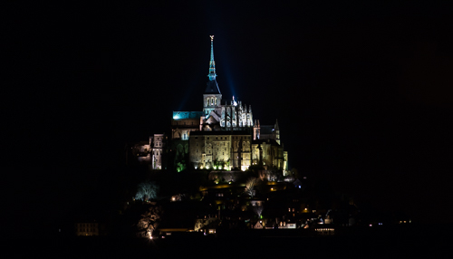 Night time at Mont St Michel