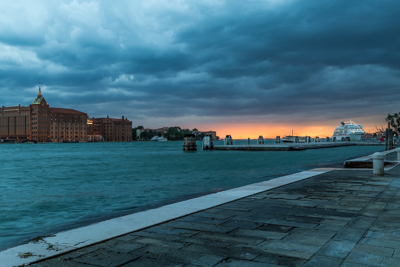 Photo of sunset in Venice