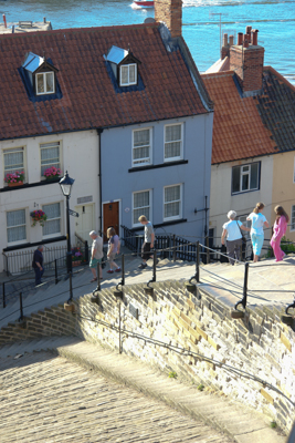 Picture of the 99 steps in Whitby