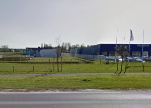 Image of a business park with a veterinary surgery on it