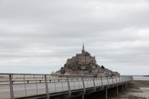 Mont St Michel and bridge