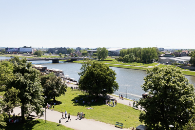 Vistula river from Wawel hill