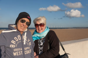 David and Jan at the beach, Sept 2016