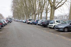 The car park where it all happened...