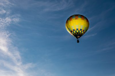 Balloon in flight