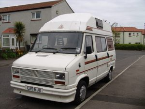 Picture of camper from front nearside