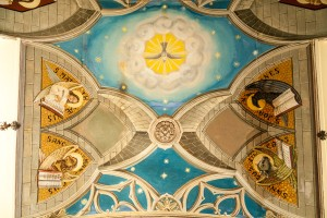 The Italian chapel ceiling