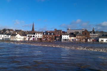 Dumfries in flood